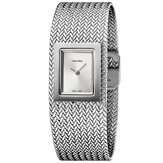 Reloj de Mujer CALVIN KLEIN de Acero Pulsera de Plata de lnea 22x27mm K5L13136: Amazon.es: Relojes