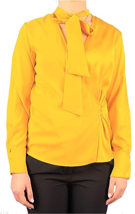 Merci - Camisa de Mujer Mod. Camisa Amarilla MC160 Amarillo Amarillo 42: Amazon.es: Ropa y accesorios