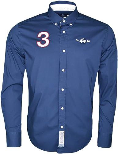 La Martina - Camisa para hombre, color azul marino: Amazon.es: Ropa y accesorios