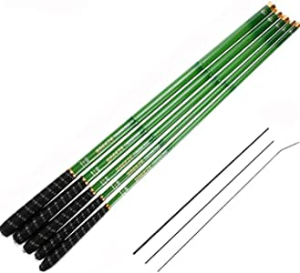 Goture//Telescopic Tenkara Fishing Rod//Ultralight Travel Fishing Rod,Portable Collapsible Bass Crappie Rod,1 Piece Carbon Fiber Inshore Stream Trout Pole 10 12 15 18 21 24 Free Tip Set(Top 3 Segment)