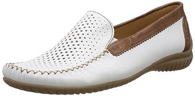 Gabor Comfort 66.094, Mocasines Mujer, Blanco (Weiss/Copper 50), 36