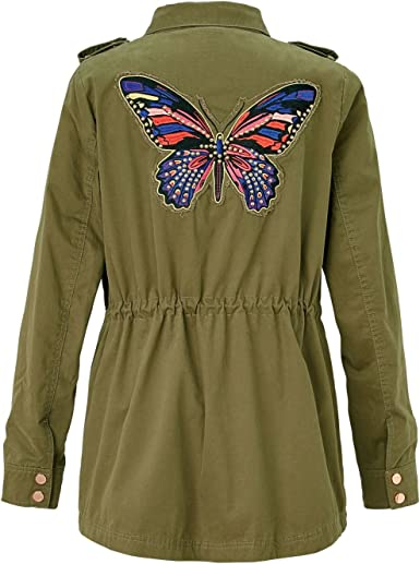 CONLEYS BLUE Jacke Schmetterling, Golddetails, Parka