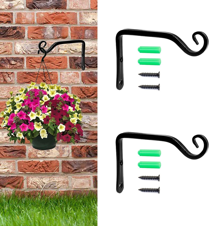 Plant Hanger, Wall Hook for Hanging Planter (2-Pack, 5.6 Inches), Decorative Wall Hanger for Hanging Plants, Bird Feeder, Lantern, Flower Pot, Indoor and Outdoor Hook for Hanging