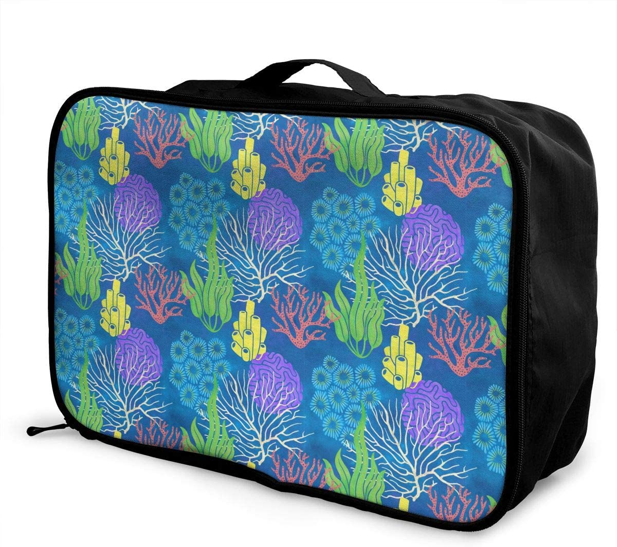 Fun Pattern Travel Carry-on Luggage Weekender Bag Overnight Tote Flight Duffel In Trolley Handle