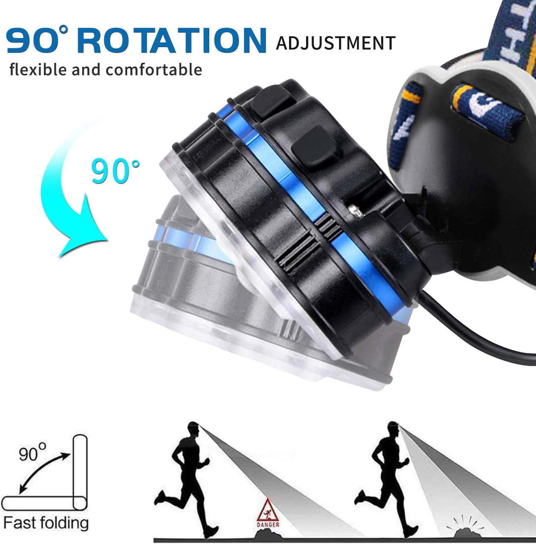 Lecture SZCLIMAX Lampe Frontale Super Puissante Lampe Torche 8 Modes USB Rechargeable 13000 Lumens avec 8 LEDs Cyclisme Camping IPX5 /Étanche Lampe Frontale pour P/êche Randonn/ée
