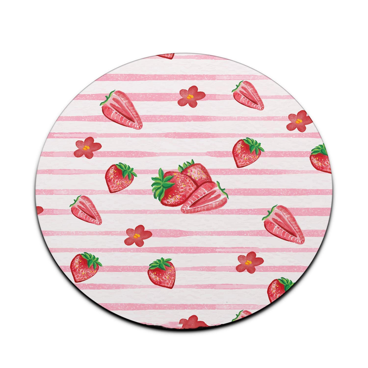 Mousepad Watercolor Strawberries Mouse Pad Cute Pink Womens Desk Accessories Office Supplies Berries Strawberry Gift for Coworker Boss A577