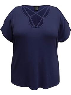 LEEBE Mujer Talla Grandes - Camisa con Cuello Drapeado (1XL-5XL): Amazon.es: Ropa y accesorios