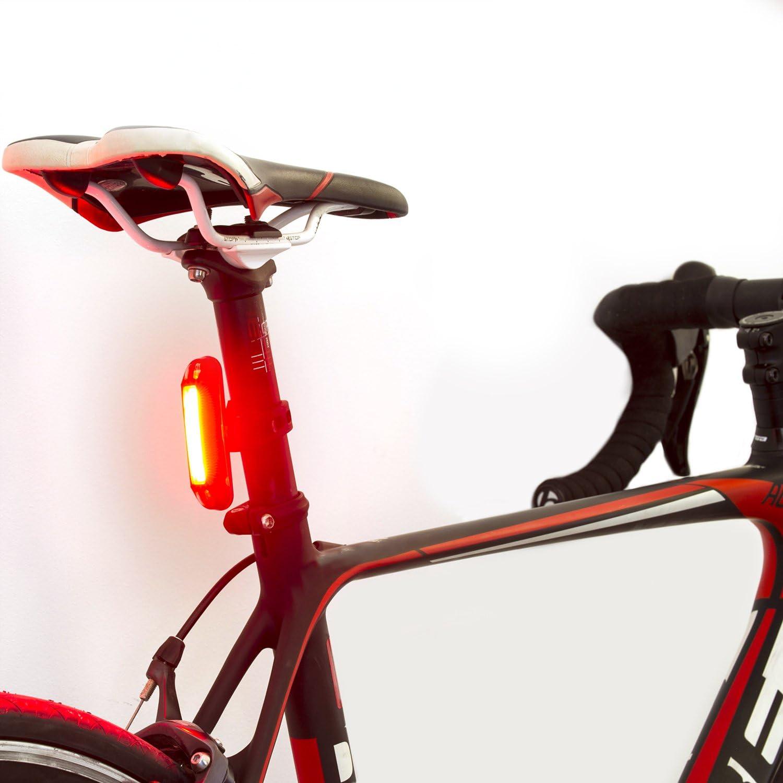 Luz trasera de Bicicleta con LED Potente Luz Intermitente USB Recargable con 6 Modalidades TRASERA COLOR ROJO Faro para Bici Brillante y Resistente al Agua IPX4