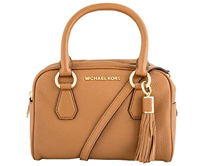 e4b0cb67d Michael Kors Bedford Sienna Pebble Leather Small Tassel Bag-Acorn...:  Handbags: Amazon.com