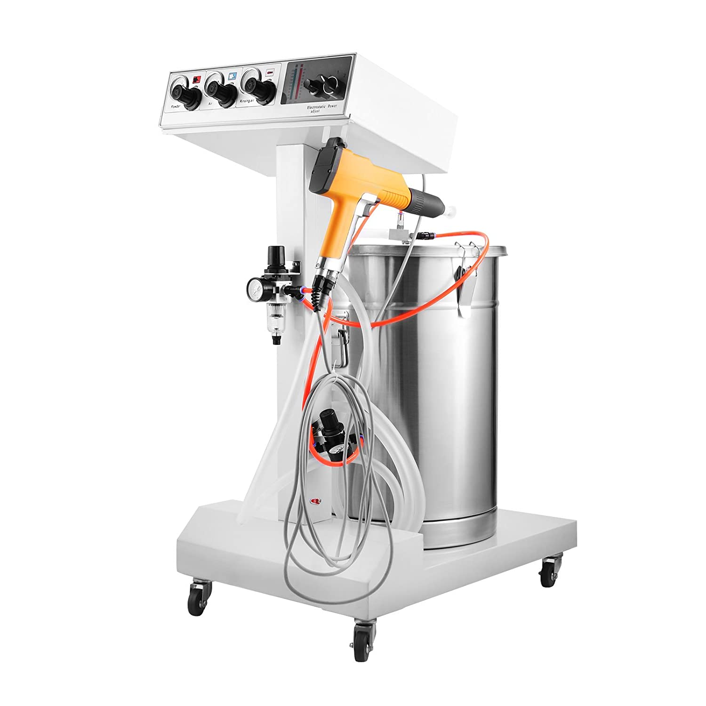 Mophorn Powder Coating Machine 40W 50L Capacity Electrostatic Powder Coating Machine Spraying Gun Paint 550g/min WX-101 Powder Coating System (40W 50L)