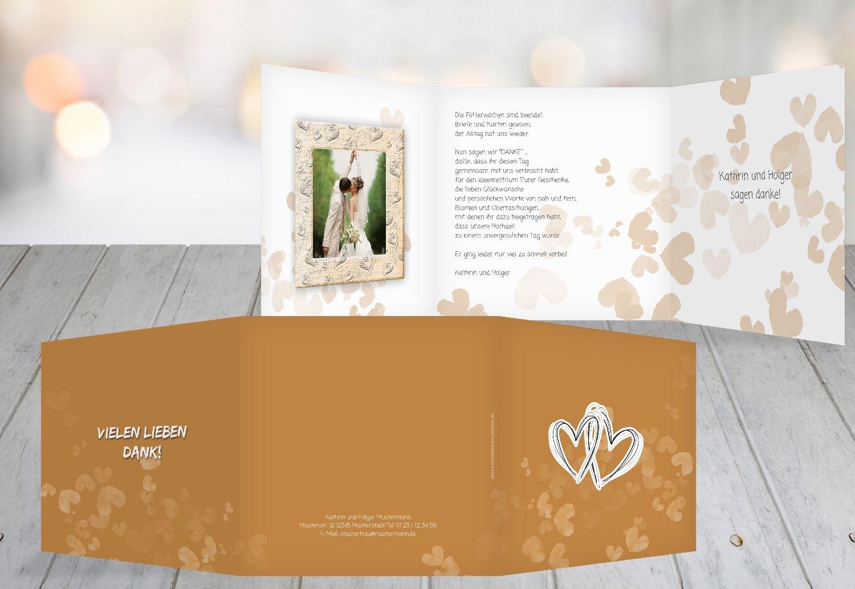 Kartenparadies Danksagung für Hochzeitsgeschenke Hochzeit Dankeskarte Liebesglück, hochwertige Danksagungskarte Hochzeitsglückwünsche inklusive Umschläge   20 Karten - (Format  145x145 mm) Farbe  Türkisblaukräftig B01NBW