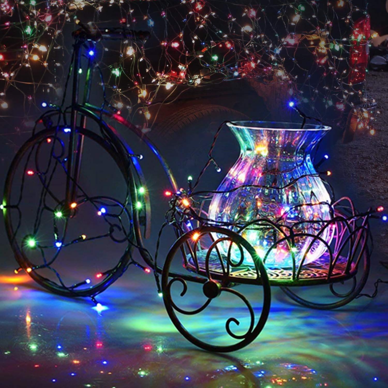 Weihnachtsbeleuchtung Bunt.Solar Lichterkette Außen T98 Led Weihnachtsbeleuchtung Bunt 100er 8