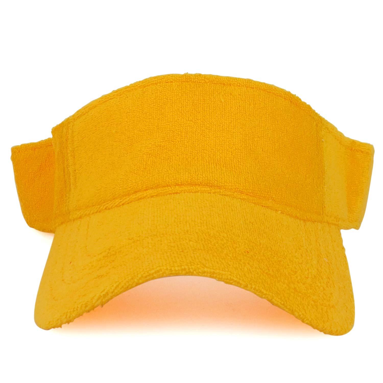 Armycrew Cotton Terry Cloth Hook and Loop Closure Sun Visor Cap