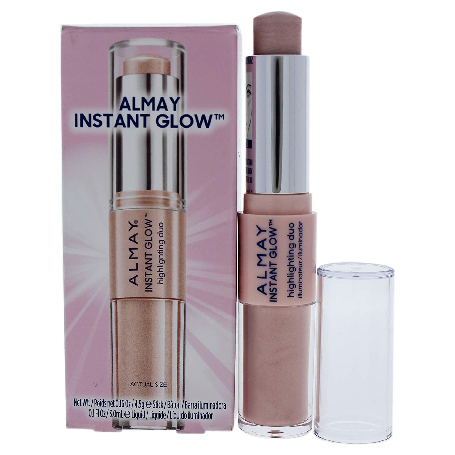 Almay Instant Glow Highlighting Duo - 100 Soft Glow By Almay for Women - 0.26 Oz Highlighter, 0.26 Oz