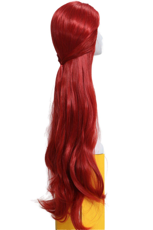 Peluca Ondulada para Mujeres Larga Wig Roja Cosplay Disfraz de Melisandre Televisión Cos Traje: Amazon.es: Belleza