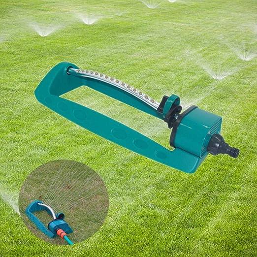 VASTFIRE aspersor oscilante, aspersor de césped con 15 Agujeros de riego, aspersor de jardín, oscilante automático oscilante de Agua, rociador oscilante para jardín y césped, Sistema de riego: Amazon.es: Jardín