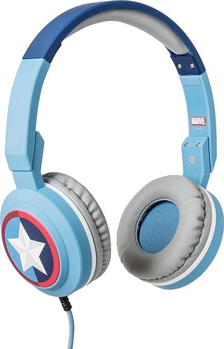 Tribe Marvel Cuffie On Ear pieghevoli con Microfono incorporato I Gaming Headset per Smartphone, PC, PS4 e Xbox Captain America