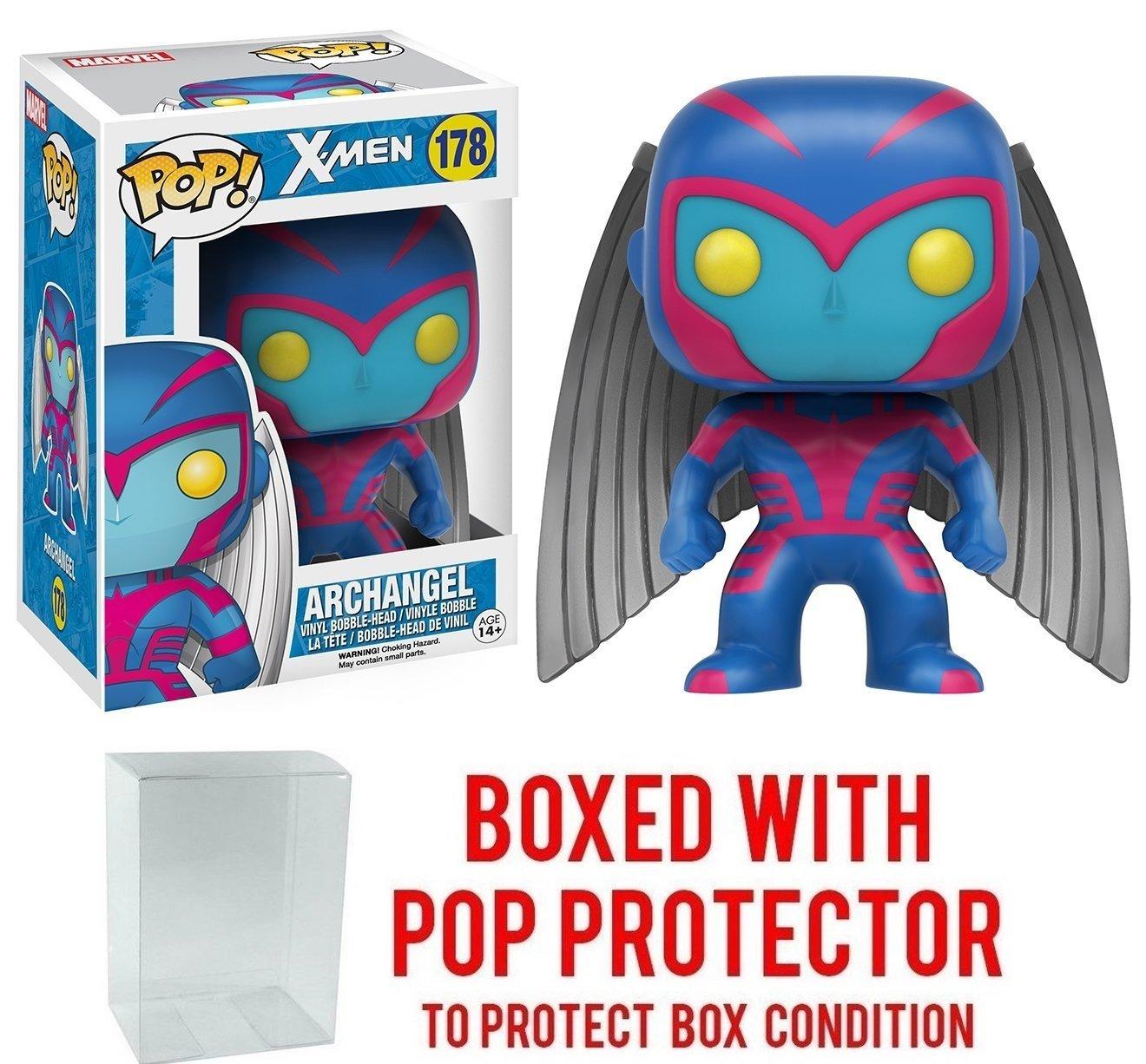 Bundled with Pop Box Protector CASE Funko Pop Marvel X-Men Archangel #178 Vinyl Figure