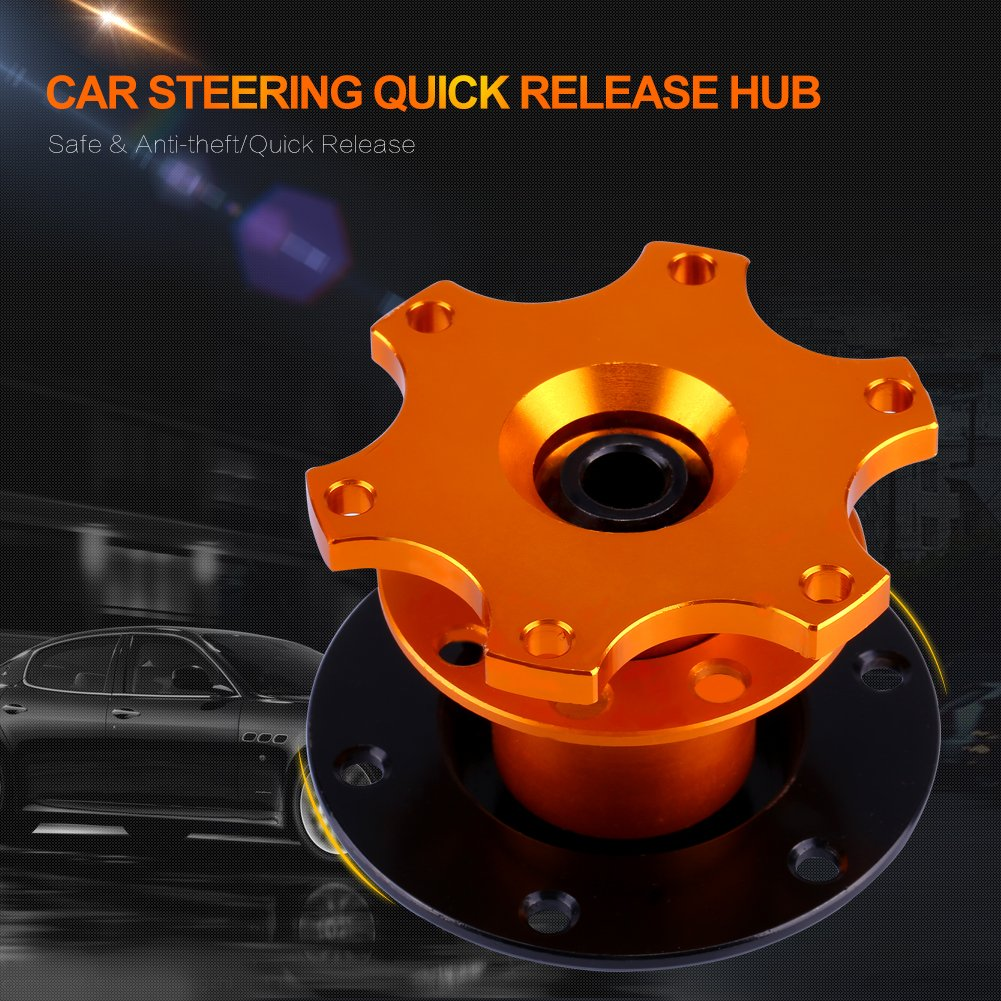 Universal Car Steering Wheel Hub Adapter Quick Release Two Way 6-Hole Boss Snap Off Adapter for Momo Sparco Nrg Omp Yosoo