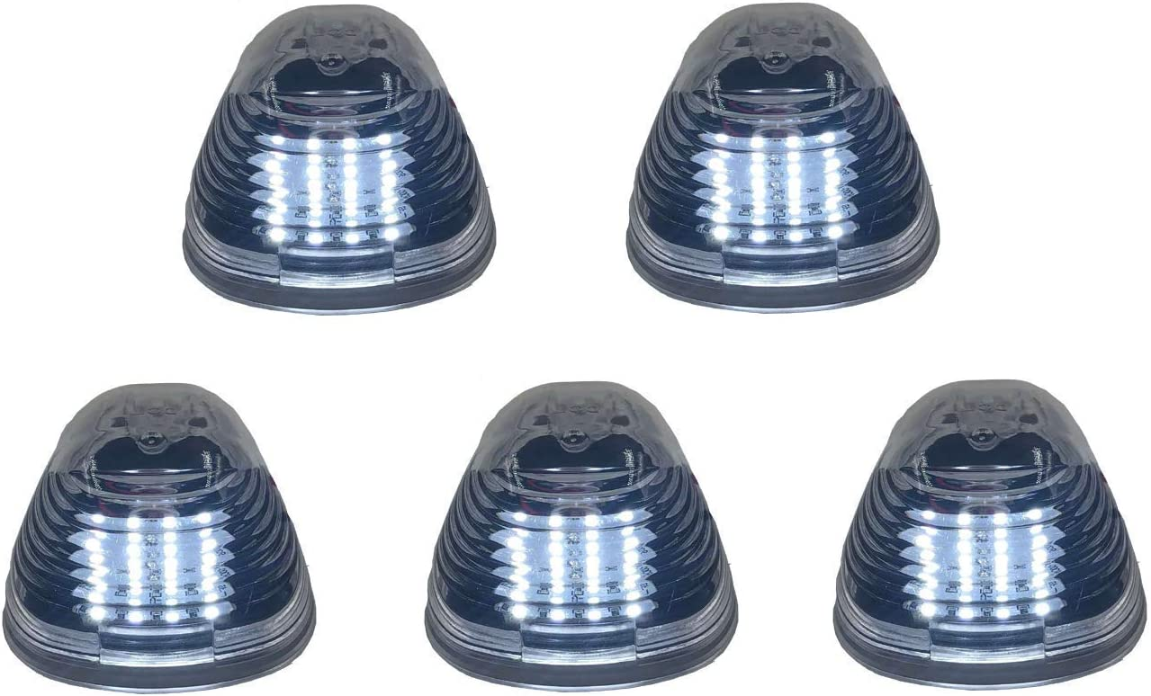 Fit 99-16 Ford Superduty 5Pcs Black Blue Led Cab Roof Running Light+Harness