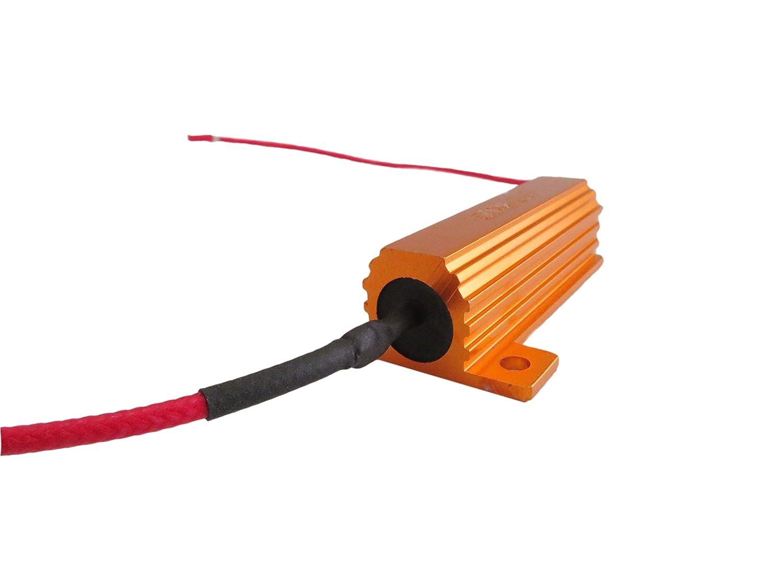 4x 50W 6 ohm Load Resistor Fix LED Bulb Fast Hyper Flash Turn Signal Blink JEM/&JULES