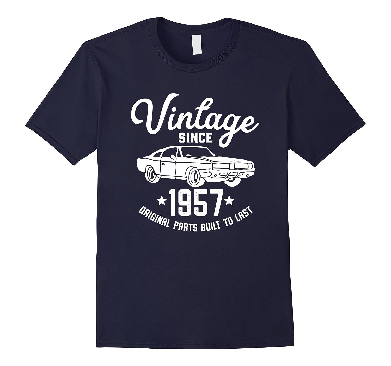 60th Birthday 1957 Classic Car American Muscle Men Tshirt-ANZ