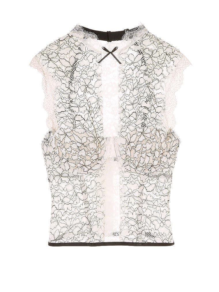 5a7c12ccc11 Amazon.com  Victoria s Secret Dream Angels Chantilly Lace High-neck Bustier  VS Ivory  Clothing
