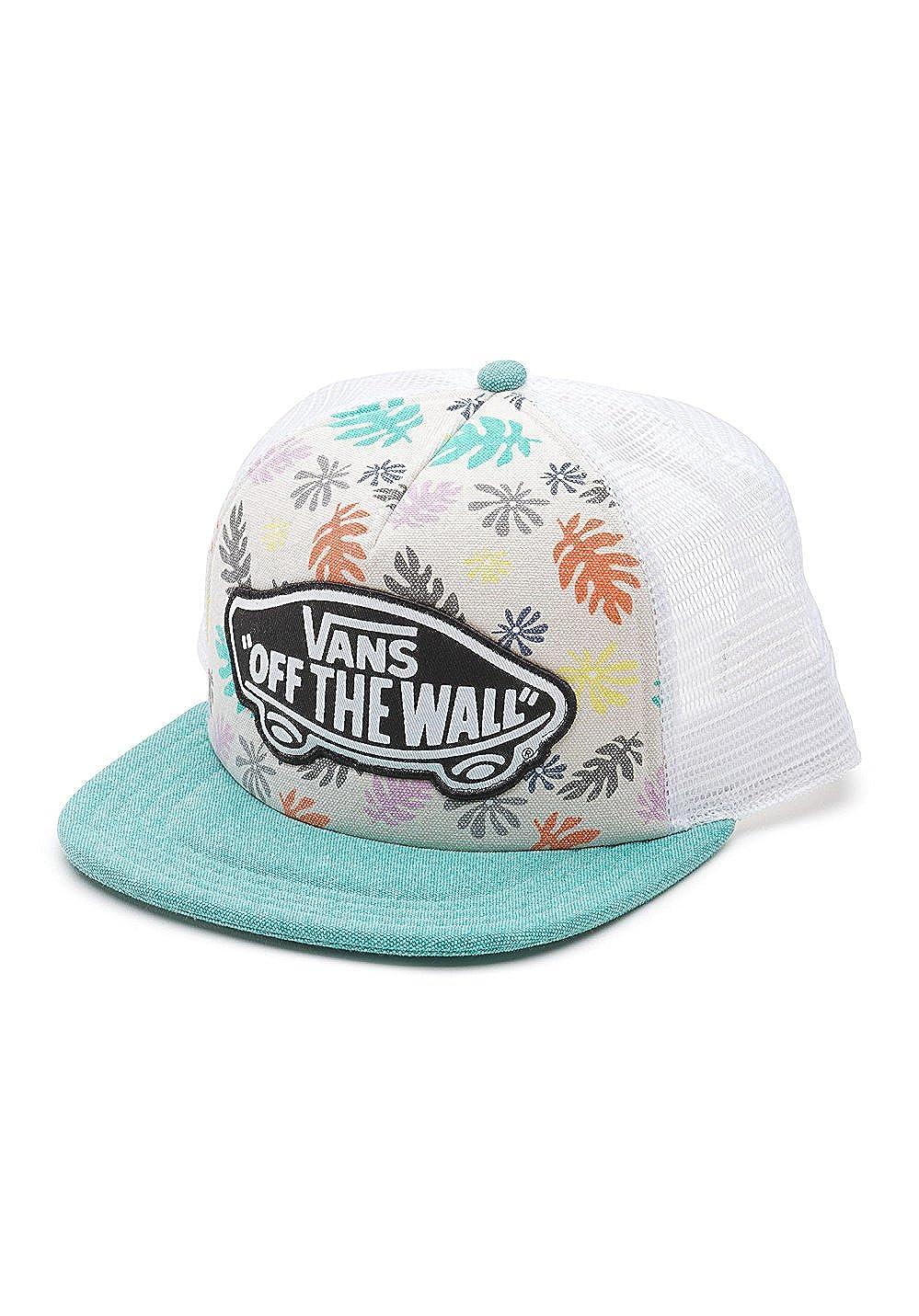 7c8b89e2c57 Vans Off The Wall Women s Beach Girl Trucker Hat Cap - Kelp at Amazon  Women s Clothing store