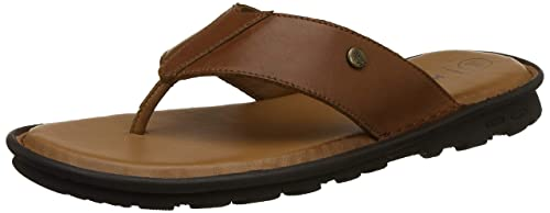 950a1afc5f Hush Puppies Men s Snarl Tan Leather Flip Flops Thong Sandals-10 UK India (