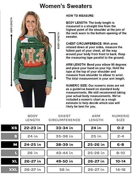 b6d934b3476d Amazon.com: Tipsy Elves Women's Tacky Christmas Sweater-Christmas Tree  Sweater with Suspenders: Clothing