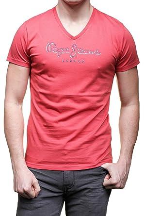 Tee Shirt Pepe Jeans New Eggo Rouge Brique  Amazon.fr  Vêtements et ... b63dc7efcac7