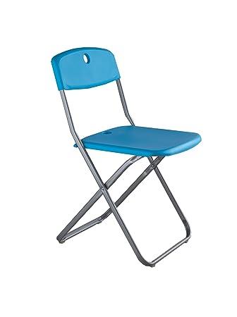 Stones Kyra Juego de 4 sillas, PVC y Metal, Azul, 39.5 x 39 ...