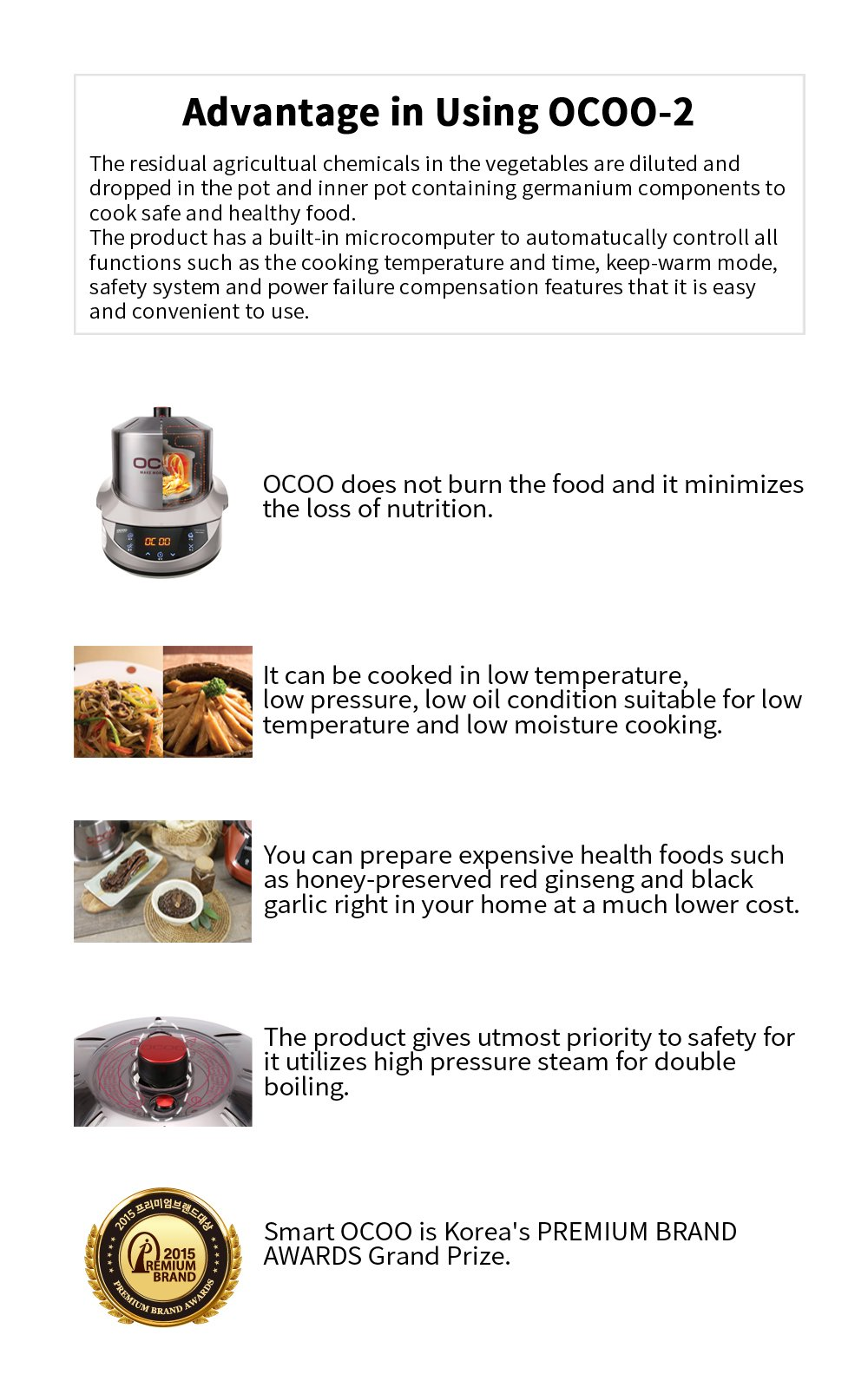 Smart OCOO Metal Silver OC-S1120S Slow Electric Cooker 120V/60Hz by OCOO (Image #4)