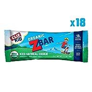 CLIF KID ZBAR - Organic Energy Bar - Iced Oatmeal Cookie - (1.27 Ounce Snack Bar, 18 Count)