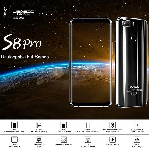 LEAGOO® S8 Pro Smartphone - 5.99 Android 7.0 Octa Core 6GB Ram ...