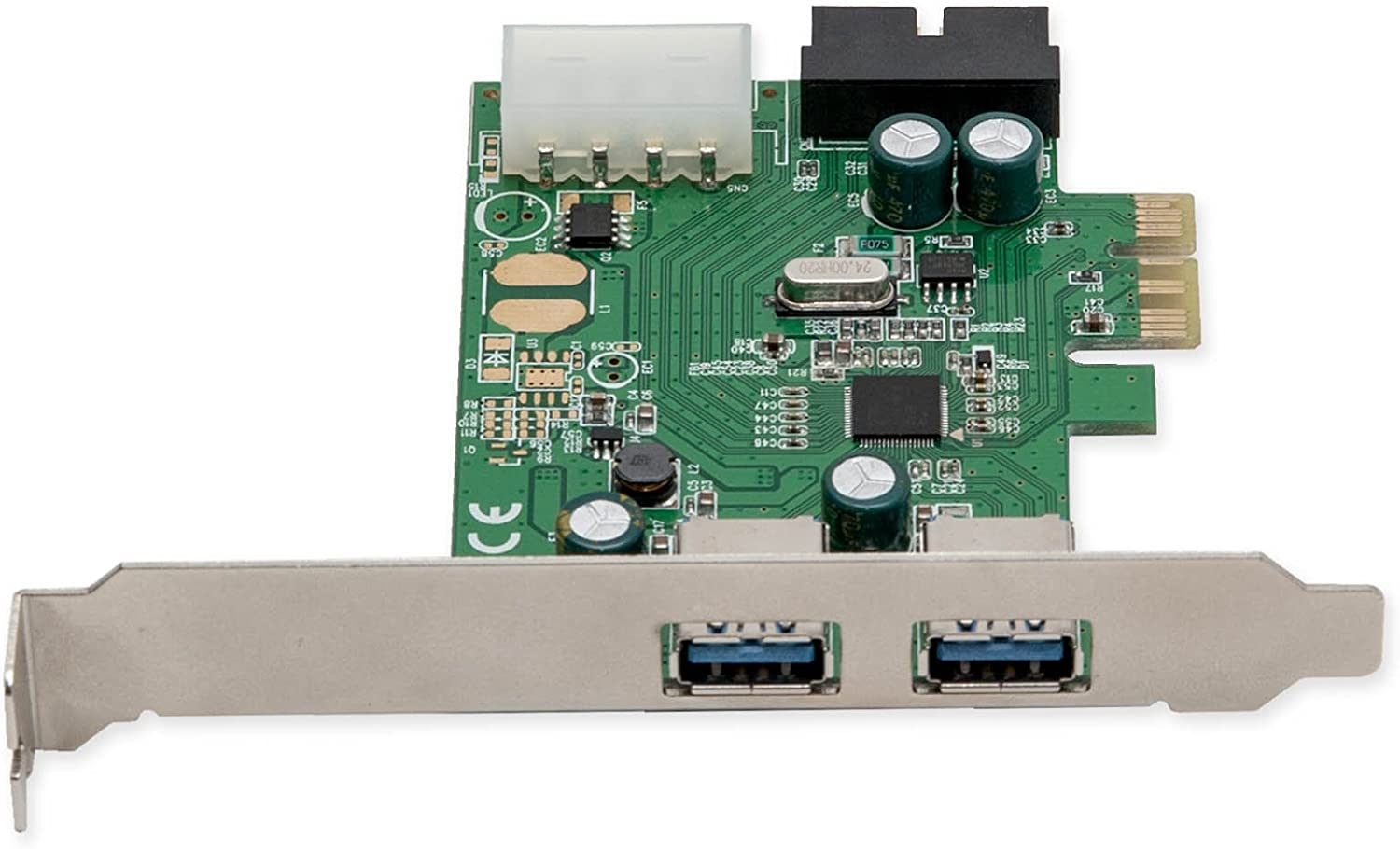 2 Port USB 3.0 5Gb//s PCI-Express X1 PCI-E x1//x4//x8//x16 Host Controller Card Adapter with CD Driver for Computer PrinceShop