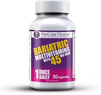 Bariatric Once A Day Multivitamin 45mg Iron 30 Ct Capsule Designed For Patients Post
