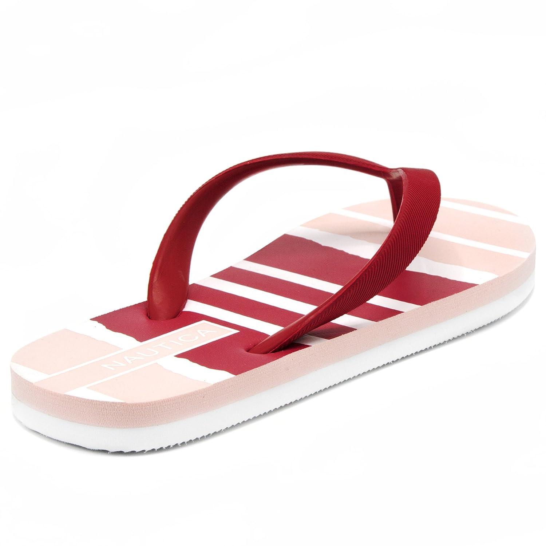 Nautica Women's pintle Flip Flop, Beach Sandal, Thong Style Boat Slide, Cloud Pink-6