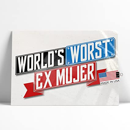 Amazon.com: NEONBLOND Large Poster Funny Worlds Worst Ex ...
