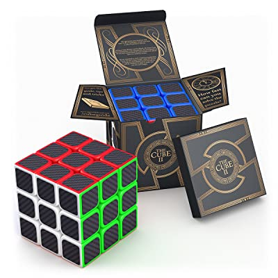 aGreatLife Carbon Fiber Sticker Speed Cube: 3x3x3 Cube Puzzle to Expand Your Mind With Hours of Logical Fun - Easily Twist With Superior Cornering - Hand-Held Games That Educate