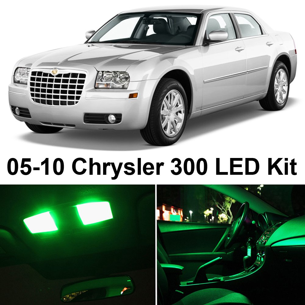 2005 chrysler 300 interior. amazoncom chrysler 300 20052010 green premium led interior lights package kit 12 pieces automotive 2005