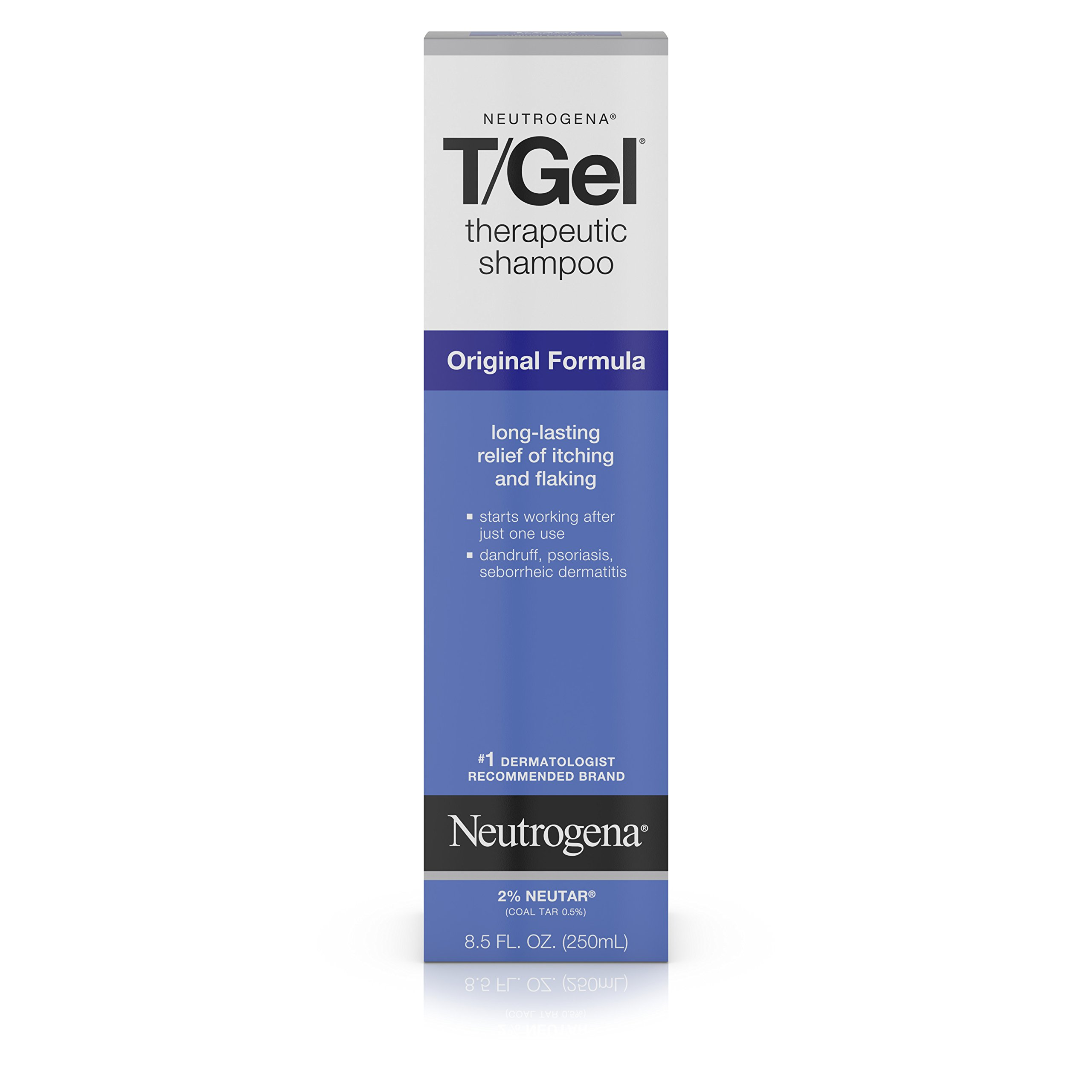 Neutrogena T/Gel Therapeutic Shampoo Original Formula, Dandruff Treatment, 8.5 Fl. Oz., (Pack of 2)