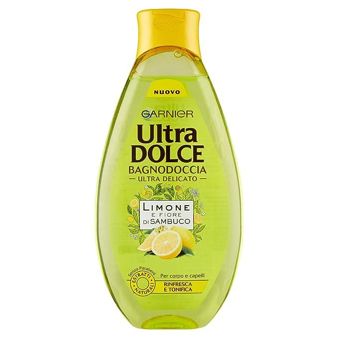 53 opinioni per Garnier Ultra Dolce Limone e Fiore Di Sambuco Bagnodoccia Tonificante Pelle
