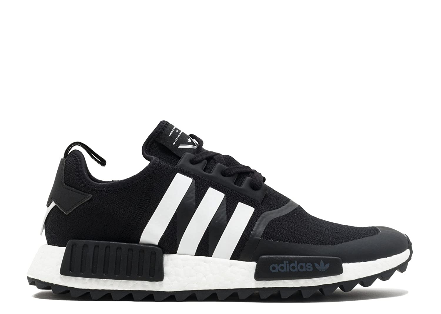 7dd936725 Amazon.com | adidas White Mountaineering NMD Trail Primeknit Mens in Black/ White by, 9 | Fashion Sneakers