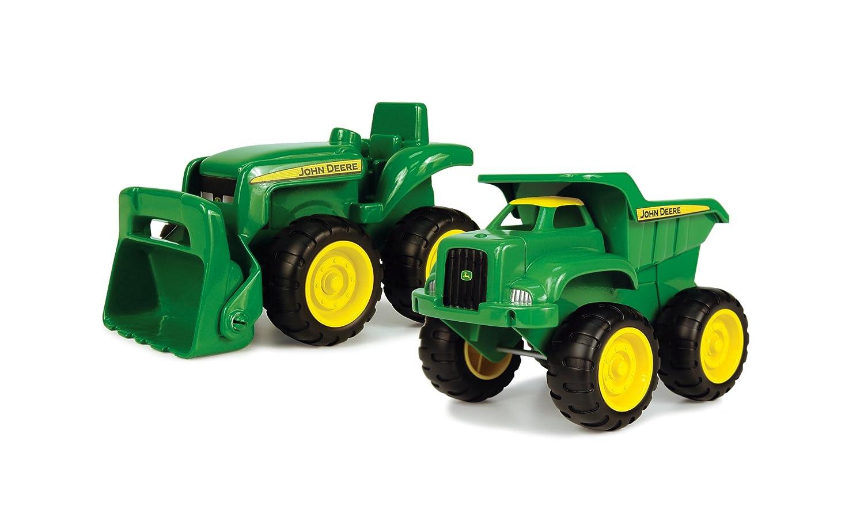 John Deere Conjunto con tractor excavadora y camión de carga TOMY