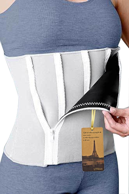 35-60waistline Neoprene 5 Zipper Adjustable Weight Loss Slimming Belt Waist Trimmer by UTRAX B00O9PWGNG