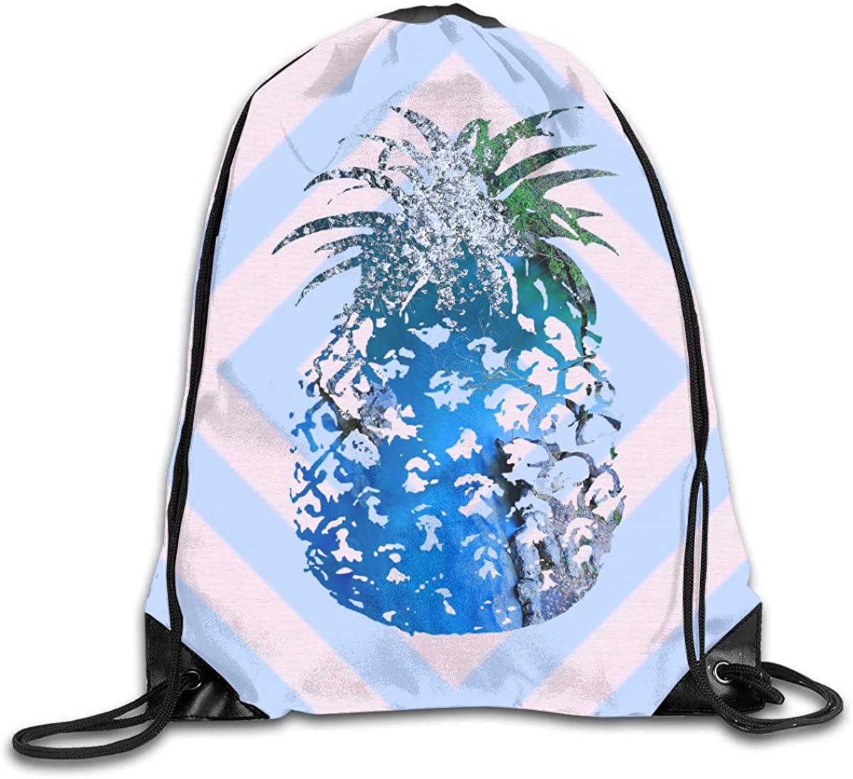 Pineapple Beam Mouth Backpack Pull Rope Shoulder Bag Outdoor Sports Leisure Bag
