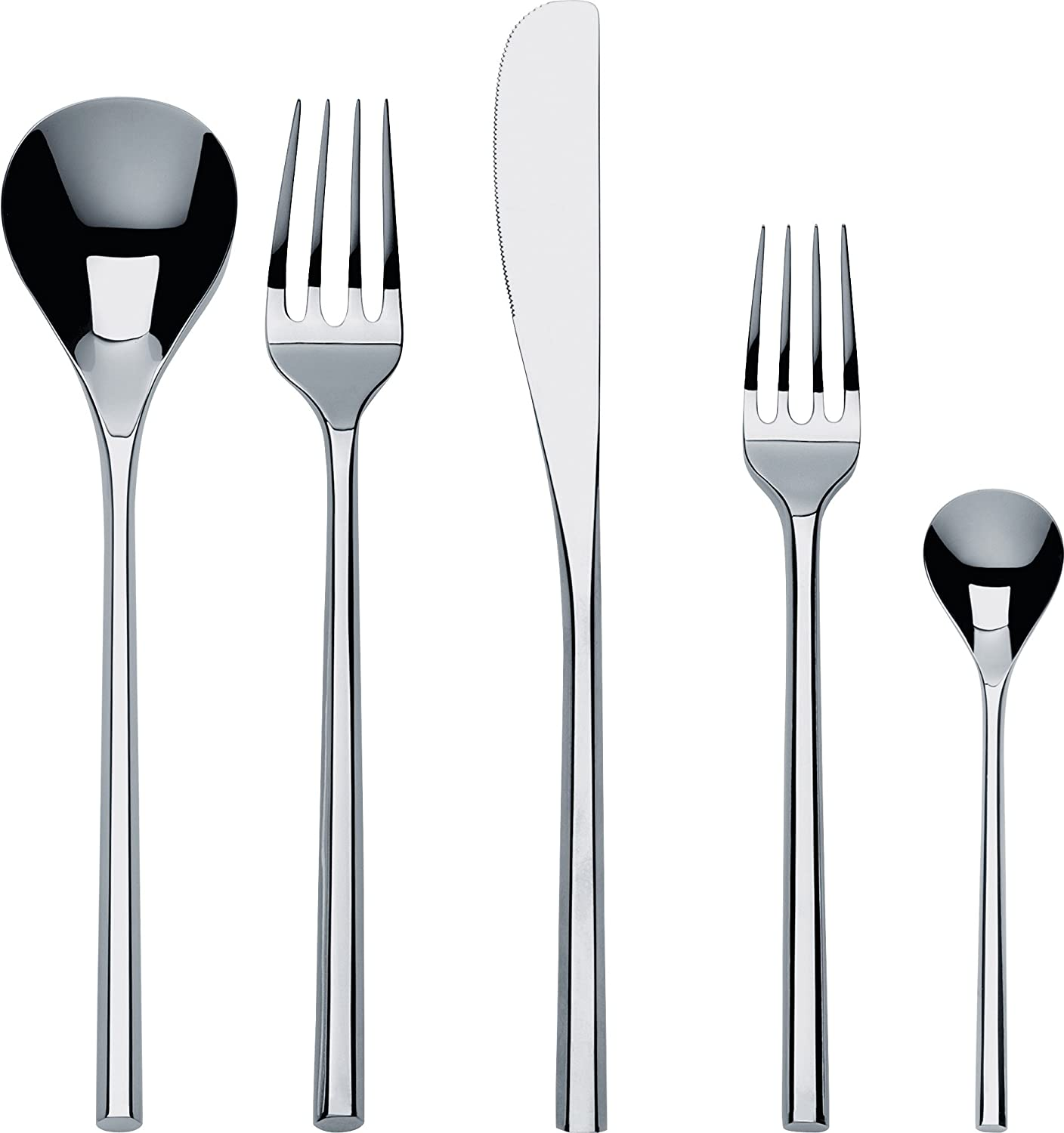 steel Alessi ANF06//2 Itsumo Set of table forks