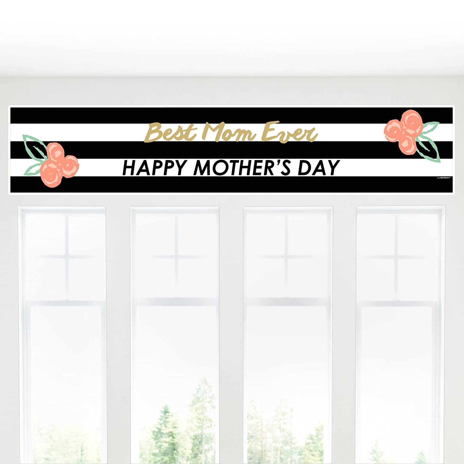 Petite Mothers Day Paper Table Runner Big Dot of Happiness Best Mom Ever 12 x 60