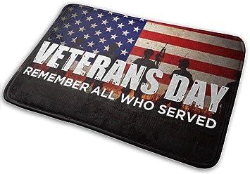 """Imagen deBLSYP Felpudo Retro Veterans Day Doormat Anti-Slip House Garden Gate Carpet Door Mat Floor Pads 15.8"""" X 23.6"""""""